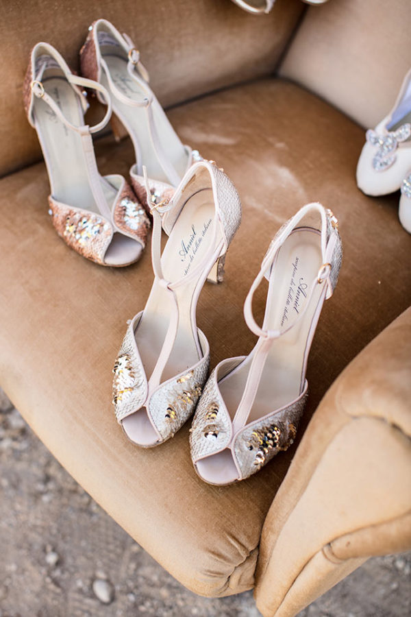 Bespoke bridal shoes